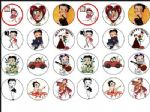 24 x Betty Boop  Rice Wafer Paper Cake Bun Toppers